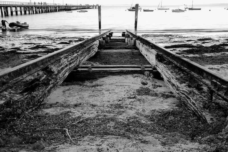 Flinders Boat Ramp. A rusty ramp never seen any one use it actually. Great texture and patten. Urbanphotography Pier Stunning Australia Black And White Blackandwhite Blackandwhite Photography Landscape EyeEm Best Shots Lifeofadventure Urbanexploration Ramps Beach Sand My Favorite Photo The Great Outdoors - 2016 EyeEm Awards