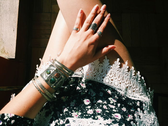 Ootd Outfit Style Fashion Rings Bracelet Jewelry Lace Summer Perspective Taking Photos Details Contrast From My Point Of View People EyeEm Eye4photography  EyeEm Gallery