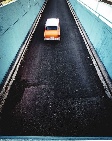 Orange. A Sunday Car Pic Minimal Street Havana, Cuba Havana A Sunday Car Pic Transportation High Angle View No People Day Outdoors