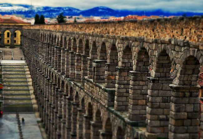 Acueducto-Segovia Stone + Nature + Cityscapes City Getting Inspired Discovering Great Works Taking Photos Being A Tourist Tourist Attraction