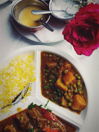 indian food for lunch Bowl Close-up Day Directly Above Flower Food Food And Drink Food And Drink Foodphotography Freshness Healthy Healthy Eating High Angle View India Indisch Indish Food Indoors  No People Plate Ready-to-eat Serving Size Table