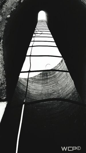 Blackandwhite Photography Looking Up... Looking Up At The Sky Inside A Silo Silos Barn Silo Silouette And Shadows Light In The Darkness