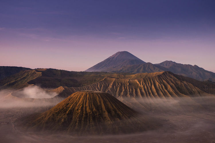 Sunrise at Bromo Mt. Indonesia Mountain Scenics - Nature Beauty In Nature Sky Volcano Landscape Environment Land Tranquil Scene Tranquility Geology No People Non-urban Scene Physical Geography Mountain Range Nature Idyllic Travel Destinations Travel Outdoors Volcanic Crater Arid Climate Mountain Peak Power In Nature