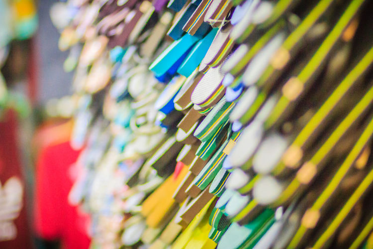 Colorful flip flop sandals in store at Khao San Road night market, Bangkok, Thailand. Khao San Rd Khao San Road KhaoSan Khaosan Rd. Khaosandroad Sandals Tourist Tourist Attraction  Tourists Abundance Arrangement Backgrounds Business Choice Close-up Flip Flops For Sale Full Frame Hanging In A Row Indoors  Khao San Khao San Knok Wua Khao San Rd. Khaosan Road Khaosanroad Large Group Of Objects Multi Colored Night Market Night Market In Thailand Night Market, No People Pattern Retail  Selective Focus Side By Side Tourist Destination Variation