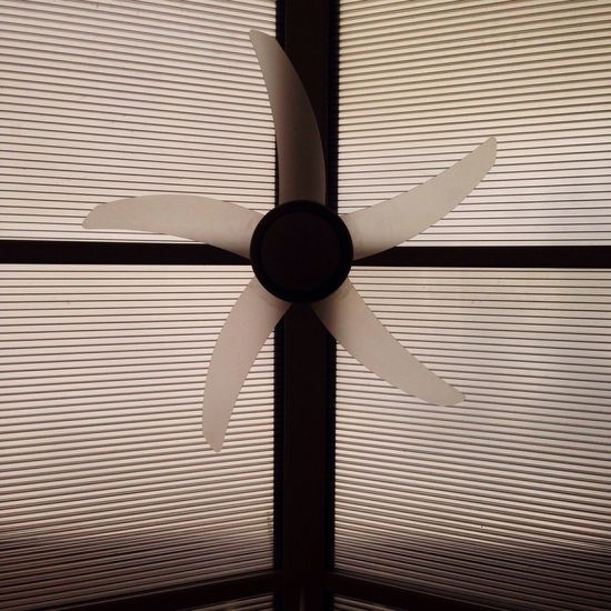 EyeEm Selects EyeEm Selects Ceiling Fan Ceiling Electric Fan Pattern Indoors  Shutter Electricity  Blinds No People Technology Low Angle View Corrugated Iron Day Close-up