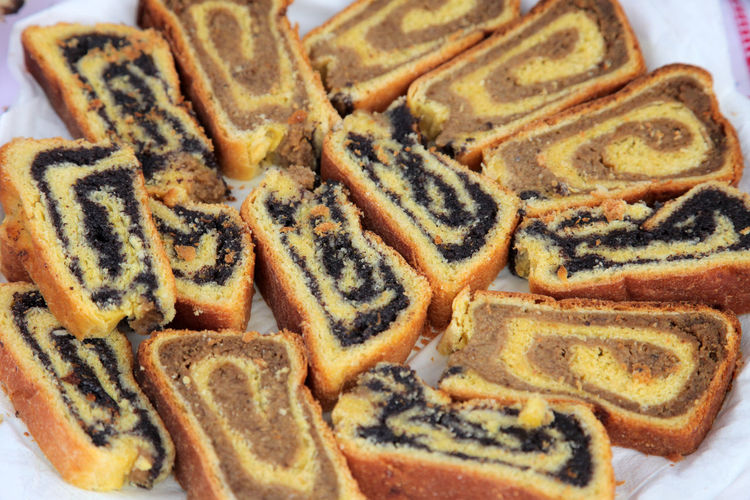 Poppy seed and walnut rolls Baked Biscuits Cake Christmas Cookies Dessert Filled Food Food And Drink Freshness Homemade Jam Pastry Popy Roll Seed Shortbread SLICE Snack Sugar Sweet Walnut