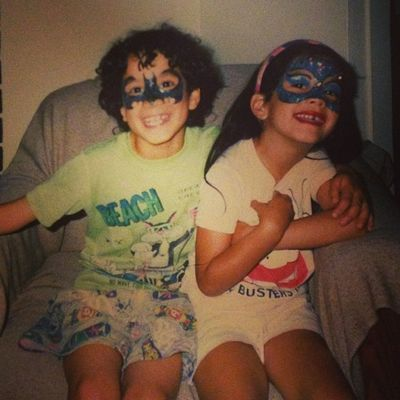 TBT  to Sibling Facepainting at the CNE Brother Sister Batman Catwoman Ghostbusters