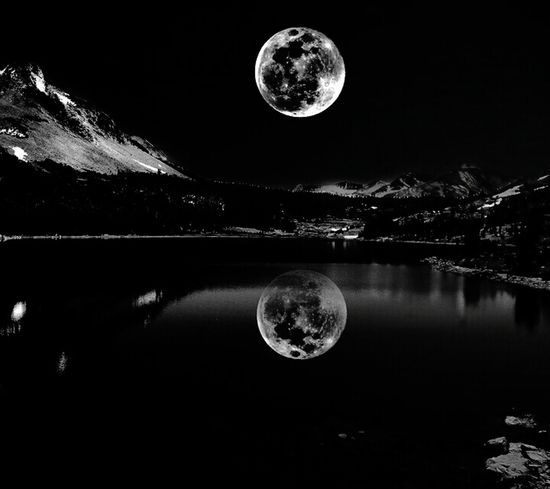 Moon Moon Red Reflection Night Water No People Futuristic Space Astronomy Galaxy Moon Surface Ball Star - Space Sky Outdoors