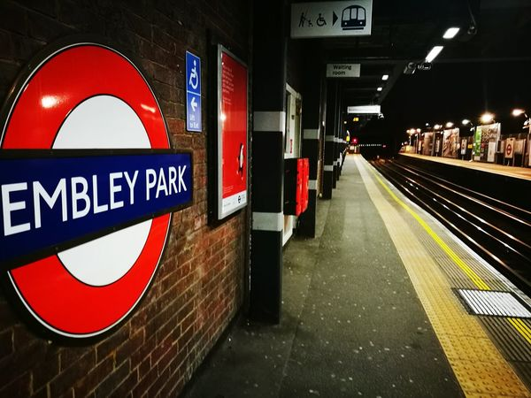 Wembley park station- Transportation Illuminated Outdoors City No People Night Huawei P9 Plus London Hello World Night Life