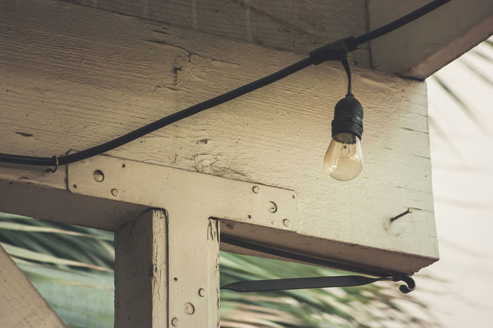 Edison Bulb Edison Bulbs Edison Light Bulb Filament Filament Bulb Filament Light Filament Lights Filaments Low Angle View No People Rustic Rustic Charm Rustic Style Weathered
