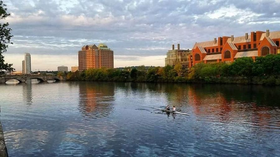 charles river #Boston #Cambridge City Cityscape Urban Skyline Water Bridge - Man Made Structure Reflection Business Finance And Industry Sky Kayak River