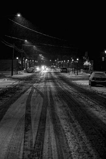 Cold Temperature Illuminated Nature Night Night Lights No People Outdoors Sky Snow Snow ❄ Street Light Transportation