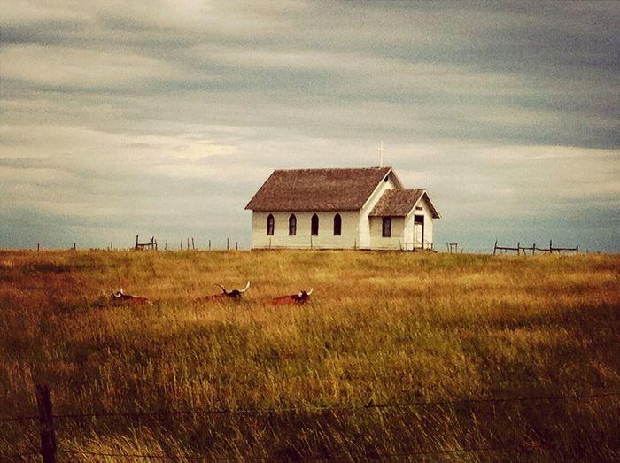 South Dakota Church on the Prairie . Wild West !