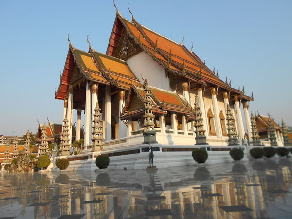 Architecture Built Structure Cultures Day No People Outdoors Place Of Worship Religion Sky Wat Suthat