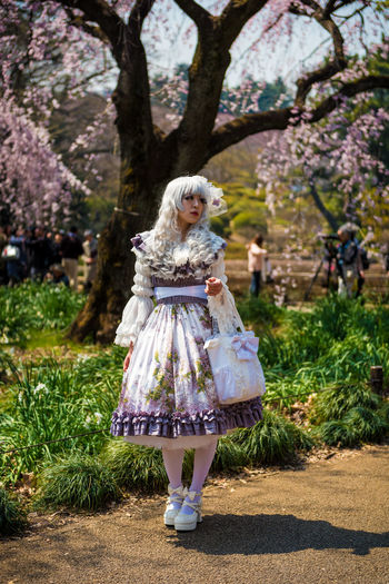 Shinjuku Gyoen National Garden Shinjuku Gyoen Shinjuku Outdoors Tree Adult People One Person Day Cosplay Harajuku Girls Harajuku Style Harajuku HarajukuCity Japan Japan Photography Nihon 日本 Tokyo Tokyo,Japan Tokyo Street Photography The Portraitist - 2017 EyeEm Awards