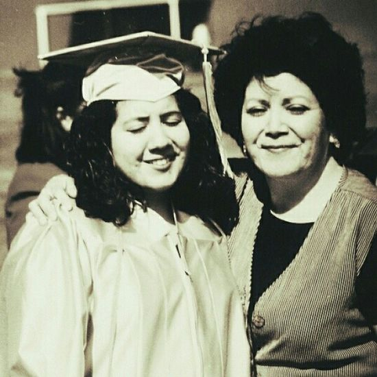 TBT  Me and my mommy at my graduation from Clc Rip mommy I did it for you ? College throwback alwayshadchubbycheeks mybestfriend mothers memories nostalgiafilter beautiful imissher