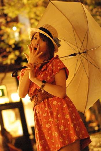 雨降ってないのに傘をさしてもらいました。Model:りんすPortrait Color Portrait KAWAII Beauty