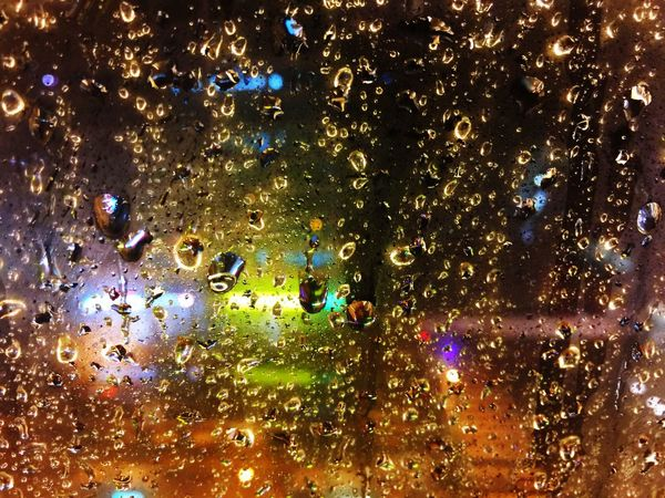 Rain City 雨 Light 城市城事 窗 水珠
