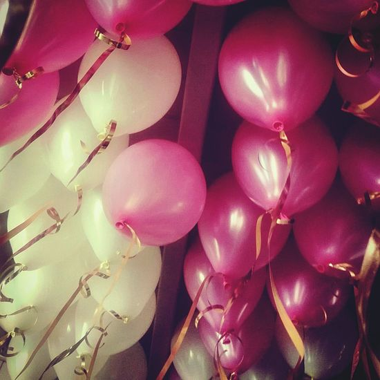 colour of life Taking Photos Balloons Celebration Event Decorative Baptism Day Sweet Pink Color White Color Baptismal Place Happy People Time For Playing Twins Girls Sunday Baptised Celebration Balloon Close-up