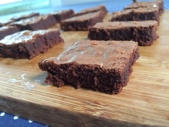 Close-Up Of Chocolate Brownies
