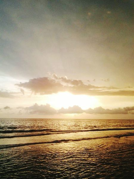 Sunset Water Sea Sky Tranquility Beach Beauty In Nature Scenics Cloud - Sky Outdoors No People