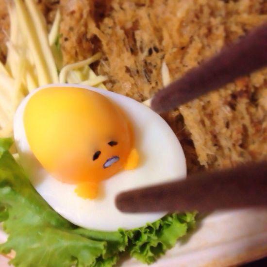 My Gudetama hahaha ^,^ Cutefood Foodart Enjoy Eating Foodporn Food Porn Gudetama Cartoon Characters Character