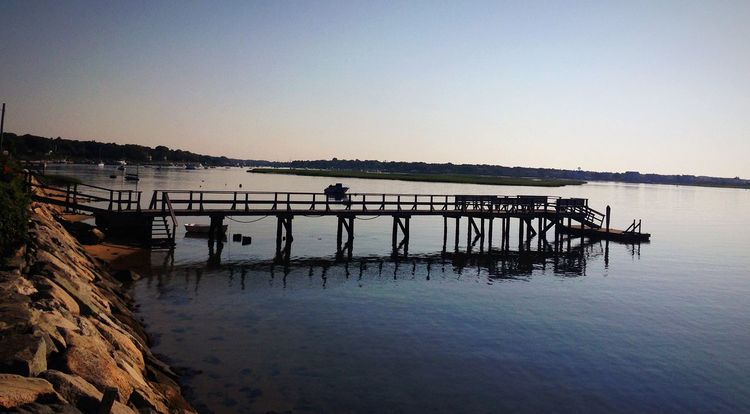 Morning silhouette Landscapes With WhiteWall Dock Water Morning Silhouette Reflection Cape Cod Still Life Still Peaceful Summer Capture The Moment Vacation South Yarmouth Beautiful New England  Early Morning Stillness Clear Peace And Quiet Simple Nature Vacation Time Nature Photography