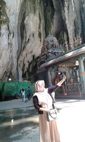 Peace in diversity..😇 Diversity Of Culture Peace ✌ Peaceful View Real People Caves at Batu Caves -Malaysia Islam Hindu