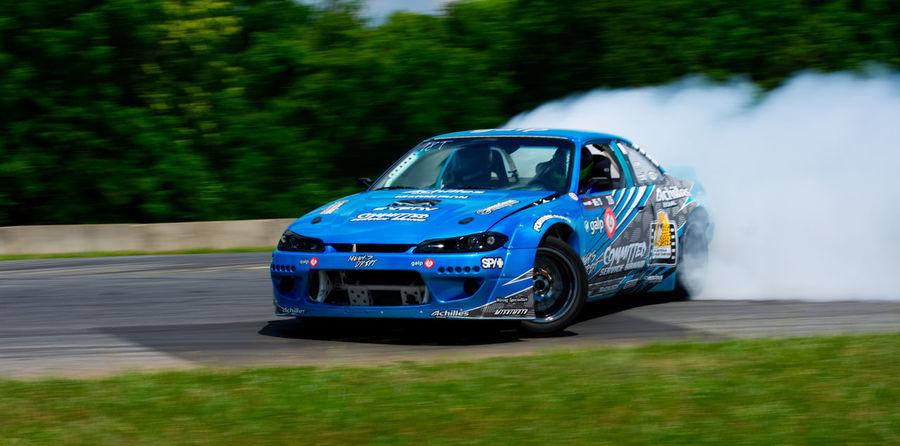 Drifting Nissan Silvia Smoke Summit Point Car Drift Nissan 240sx Racecar Sponsored Tire