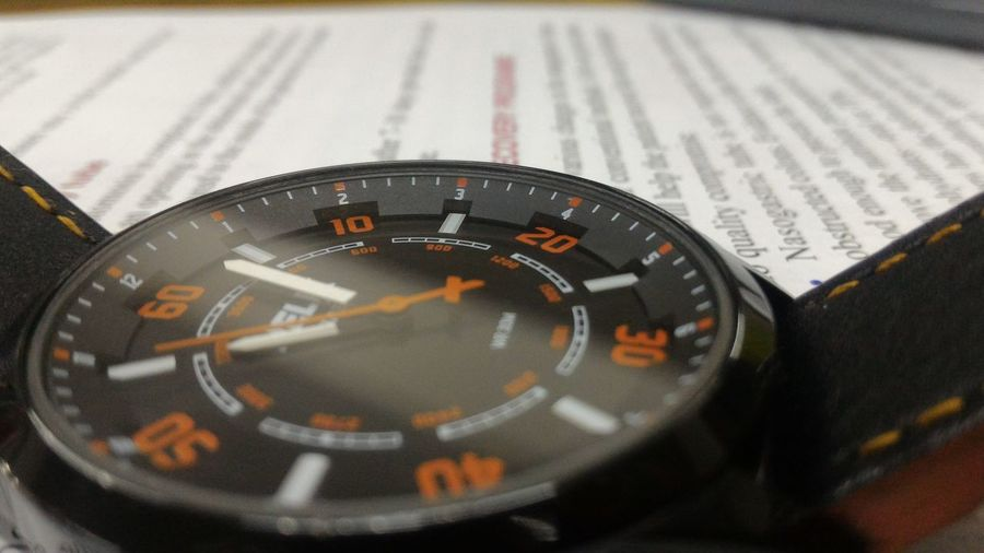 Closeupshot Wristwatch Loveorange
