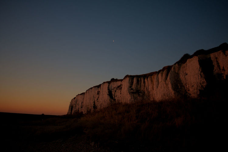 Beach Cliff Cliffs Dark Morning Nature Night No People Orange Sky Outdoors Red Sky Red Sky At Sunset Sky Sunrise White Cliffs  White Cliffs Of Dover Miles Away