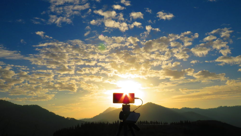 Atardecer en Tamadaba Sunset Silhouette Cloud - Sky Adult Adults Only One Man Only Red Nature Mountain Scenics Sky