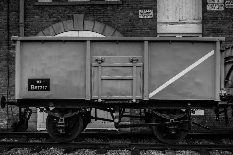 Railroad Car Against Building