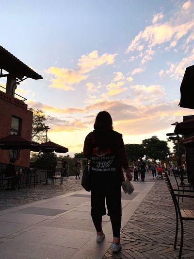 餘暉 Sky Sunset Real People Cloud - Sky Nature Lifestyles Leisure Activity