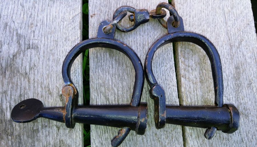 Handcuffs used when transporting slaves. Handcuff Historical Slavery Still Exists Slavery Educational History Lesson