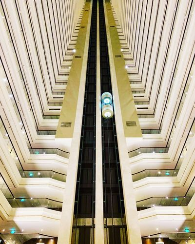 Architecture Built Structure No People The Way Forward Direction Indoors  Railing High Angle View Pattern Modern Steps And Staircases In A Row