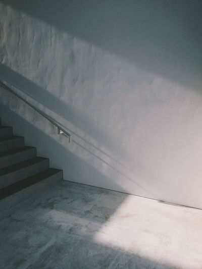 Architecture Minimal Minimalism Light Light And Shadow Lighting Architecture_collection Architecturelovers Concrete Concrete Wall Cement Solid Plaster Hand Rail Stairway Stairs Narrow Pathway Capture Tomorrow