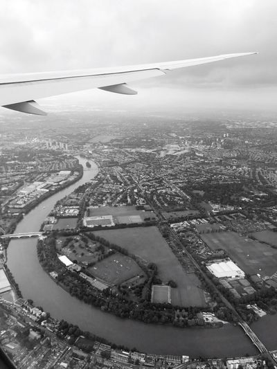 before landing at Heathrow airport London