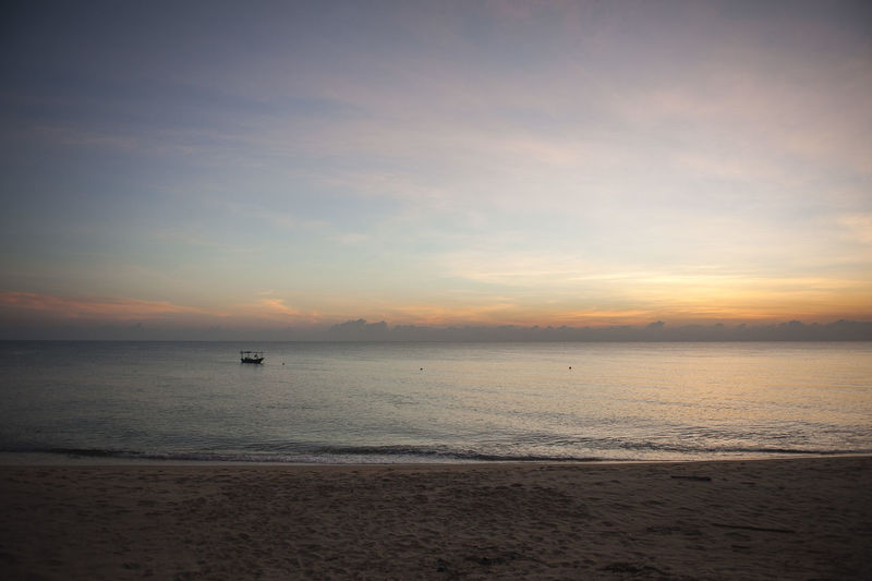 Sunrise_Collection Terengganu, Malaysia Beach Beauty In Nature Day Horizon Over Water Nature No People Outdoors Pantai Mengabang Telipot Sand Sand & Sea Scenics Sea Sky Sunrise Tranquil Scene Tranquility Water