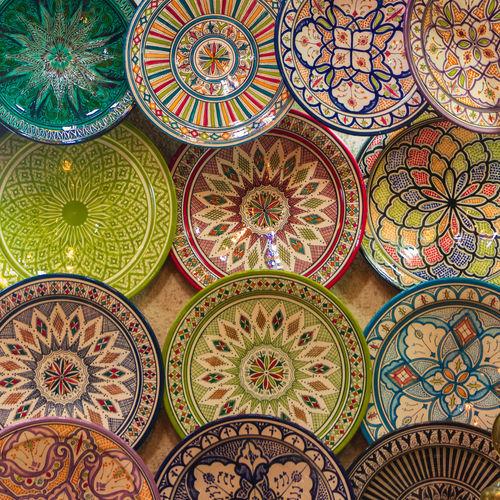 Full frame shot of porcelains for sale at market
