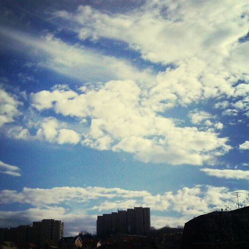 Enjoying The View Blue Sky Clouds And Sky From My Window Great Views Sky_collection