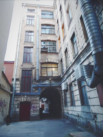 Urban Landscape Arch Leningrad Tunnel Urban Red Petersburg Architecture Trash Old Town City Courtyard Of St. Peter Courtyard  Landscapes