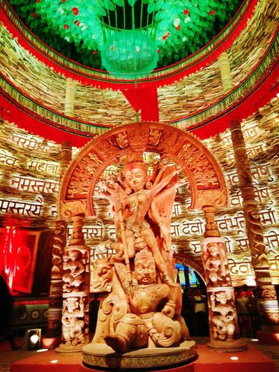 Religion History Ancient Indoors  Travel Destinations No People Architecture Sculpture Statue Ancient Civilization Day King - Royal Person Durga Puja 2017 Festive Mood Celebration Tradition Built Structure Multi Colored Festival Season Connected By Travel EyeEmNewHere Kolkata Kolkata Durga Puja 2017 Rethink Things Postcode Postcards