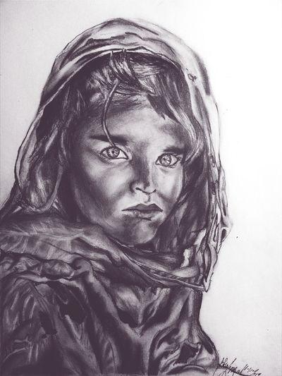 Arabgirl Drawing :) Sketch Art Blackandwhite First Eyeem Photo