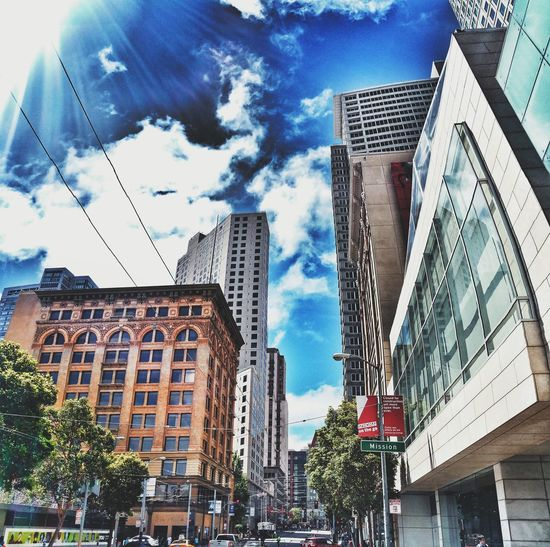 San Francisco San Francisco, California City City Life Architecture Built Structure Building Exterior Skyscraper Cloud - Sky Sky Day Low Angle View Arts Culture And Entertainment Colorful Color Photography Crowd People Summer Summer Memories 🌄 Happy Pride Cityscape Street Sunlight