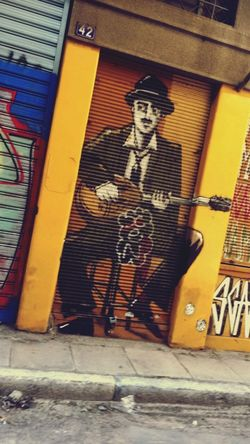 Musique Homme Tag Couleur Music Guitar Text Multi Colored Graffiti Assemblage Grèce, Greece,