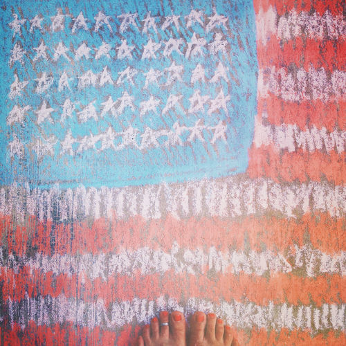4th Of July America Celebrate Celebration Chalk Chalk Art Drawing Feet Festive Flag Freedom Fun Holiday Independence Day July 4th Multi Colored National Red Toenails Red White And Blue Square Crop Stars And Stripes Flag Textured  Toes United States