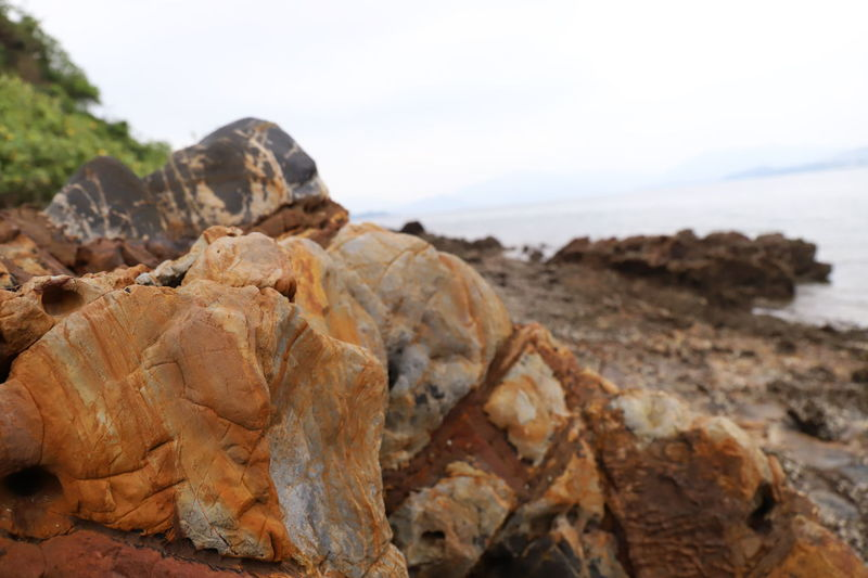 Beach Beauty In Nature Close-up Focus On Foreground Nature Ocean Rock Sea Sky Solid 大埔1 大尾督 岩石 海洋1 風景