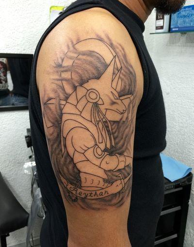 Tattootime Anubis 1er Sesion, Iniciando El Procesode PlasmarSueñosDeMuerteEnLaPiel