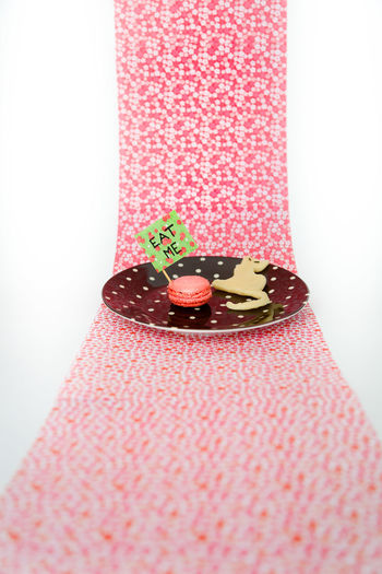 Alice In Wonderland Close-up Decoration Fairytale  Food And Drink Holding Home Home Interior Ideas Indoors  Indulgence Myuniverse Pink Color Preparation  Studio Shot Sweet Food Table Rodolphesalis